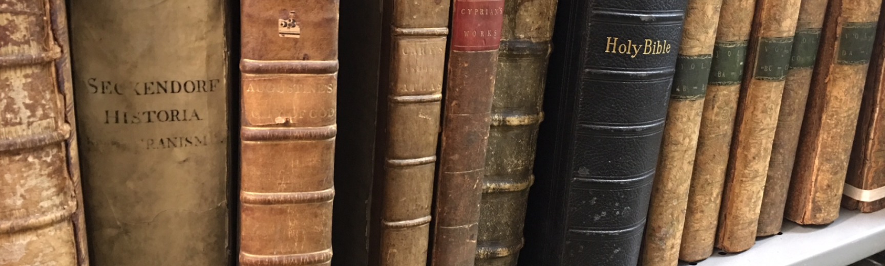 Shelf from The Angus Library, Regent's Park College, Oxford. Picture credit Christine Joynes